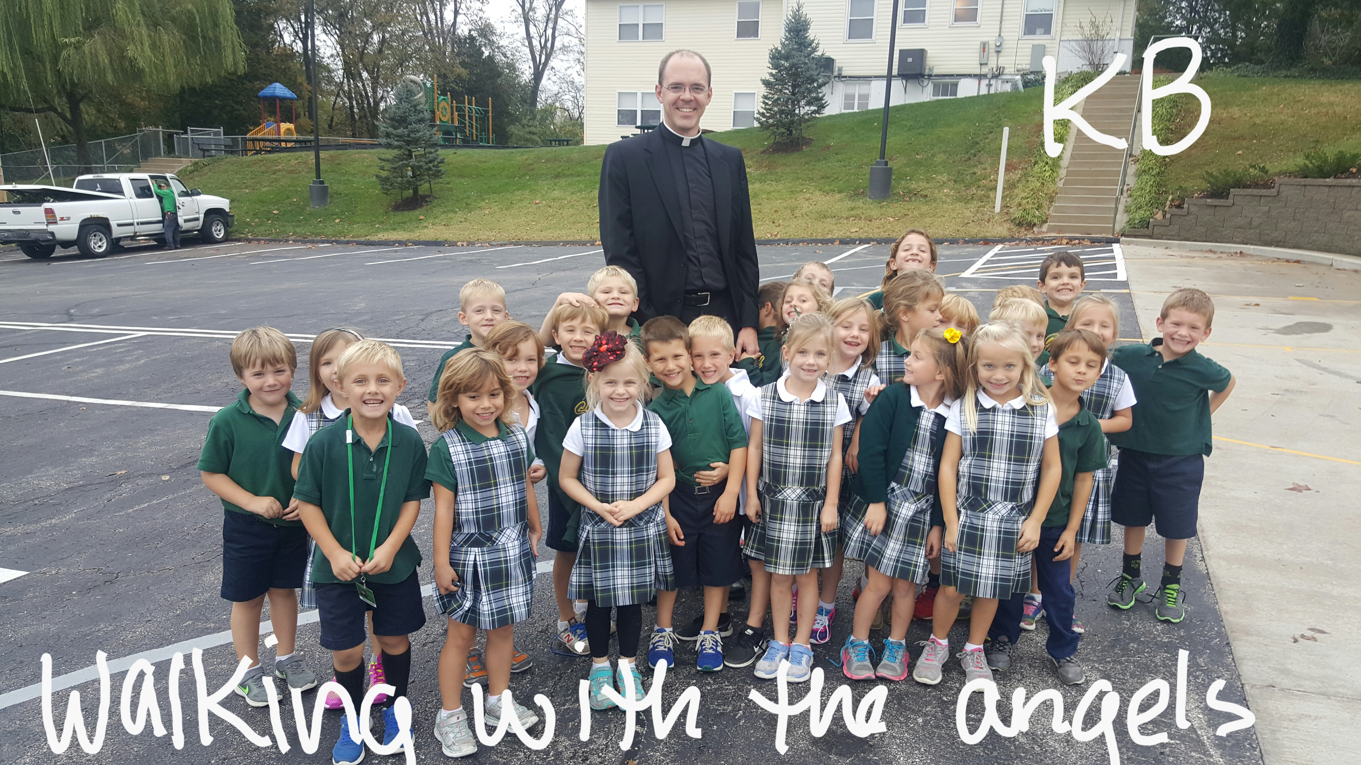 KB students with Fr. Buehler